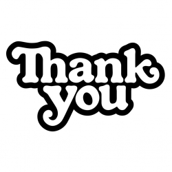 Thank You Thank You Logo sticker