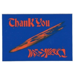 Thank You Red Ufo sticker