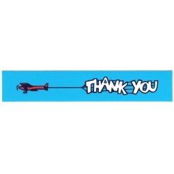 Thank You Aeroplane ad sticker