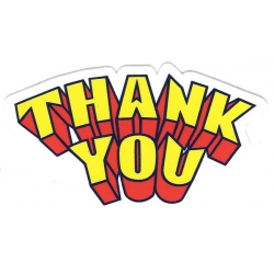 Thank You 3D Logo sticker