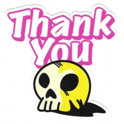 Thank You Skull You sticker