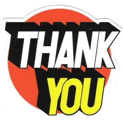 Thank You Perspective Logo sticker