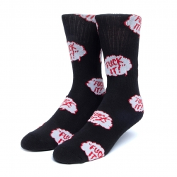 HUF The Motto Black chaussettes