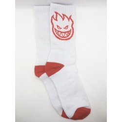 Spitfire Bighead White Red chaussettes