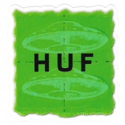 HUF Green UFOs sticker