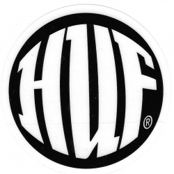 HUF Round sticker