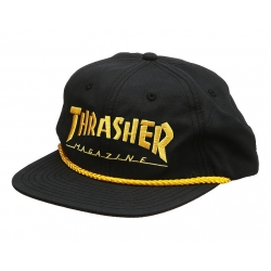 Thrasher Logo Rope Snapback Black Yellow casquette