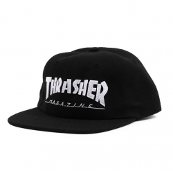 Thrasher Magazine Logo Felt Black casquette