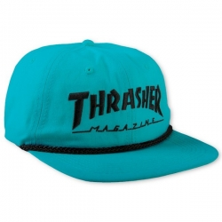 Thrasher Rope Snapback Teal Black cap