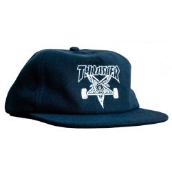 Thrasher Skate Goat Wool Blend Snapback Navy cap