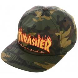 Thrasher Flame Snapback Camo cap