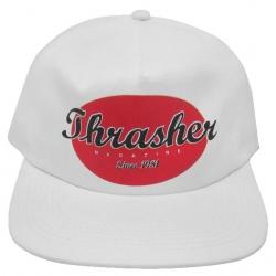 Thrasher Oval Snapback White cap