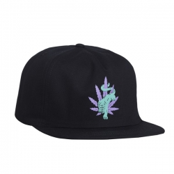 HUF Blacklighther Snapback Black cap