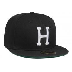 HUF Classic H New Era Black cap