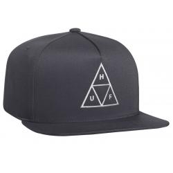 HUF Essentials Tt Snapback Charcoal cap