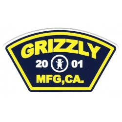 Grizzly 2001 mfg ca sticker