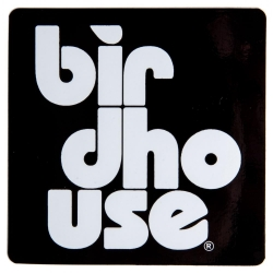 Birdhouse Stacked S White sticker
