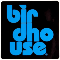 Birdhouse Stacked S blue sticker