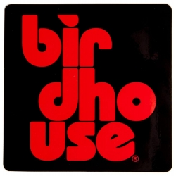 Birdhouse Stacked S Red autocolante