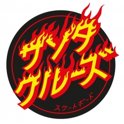 Santa Cruz Flaming Japanese Dot sticker