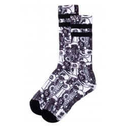 Santa Cruz Kendall Catalog Sock White/Black chaussettes