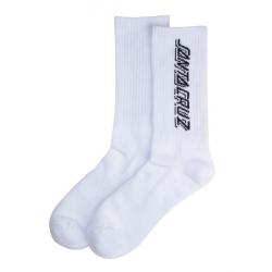 Santa Cruz Contra Strip White socks