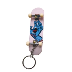 Santa Cruz Fingerboad Screaming Hand White porte-clefs