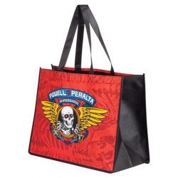 Powell Peralta Winged Ripper Shopping Tote Red luggage-storage