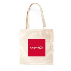 Chocolate Red Square Tote Natural bagagerie