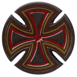 Independent Cross Silver / Red pins-badge