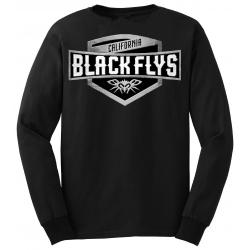 Black Flys Crest Logo / Long Sleeves S t-shirt