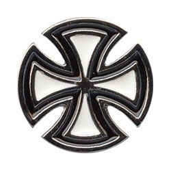 Independent Cross BlackWhite pins-badge