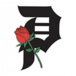 Primitive Rosebud Black sticker