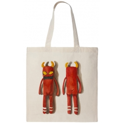 Toy Machine Monster Puppet Tote Natural luggage-storage