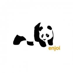 Enjoi Panda Logo White sticker