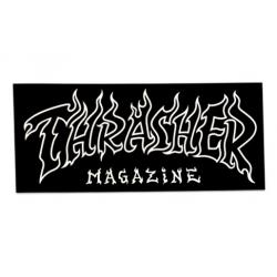 Thrasher Old Flame Black White sticker