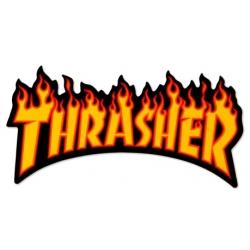 Thrasher Flame Black Yellow V2 sticker