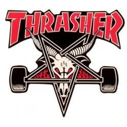 Thrasher Skategoat Black Red sticker