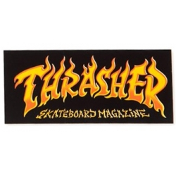 Thrasher Fire flame sticker