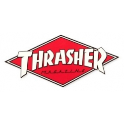 Thrasher Diamond Red Whte sticker