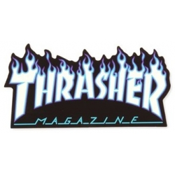 Thrasher Flame Black White sticker