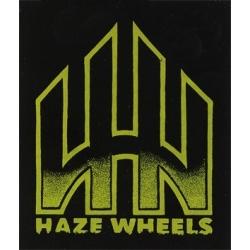 Haze Wheels Logo Black/Green sticker