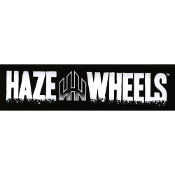 Haze Wheels Logo Bar Black / White sticker